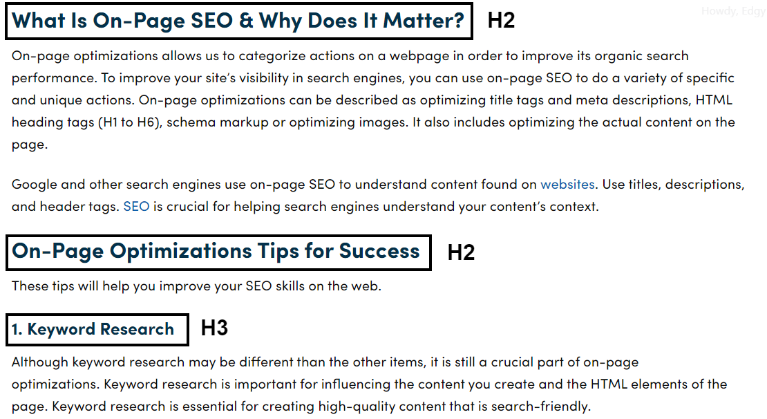 On-Page Optimizations 1